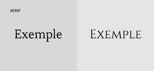 Exemples police serif