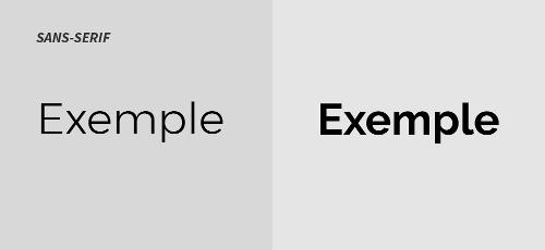 Exemples police sans serif