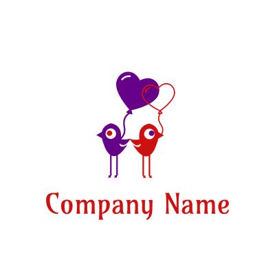 birds and balloons logo - Dating Logo