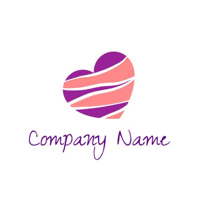 Logotipo del corazón de una cebra - Internet Logotipo