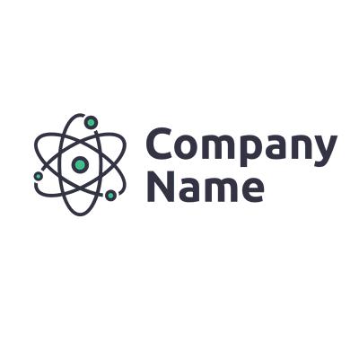Logotipo de energía nuclear - Tecnología Logotipo