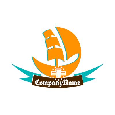 Logo with a ship - Security Logo