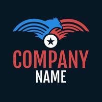 blue and red bird logo - Politics Logo