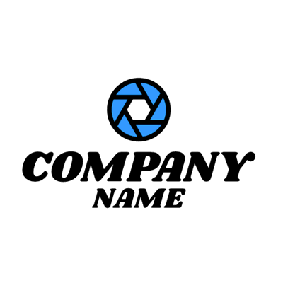 Blue lens logo - Photography Logo