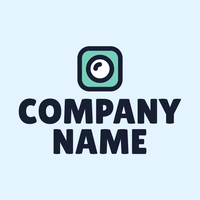 green square with white center logo - Photography Logo