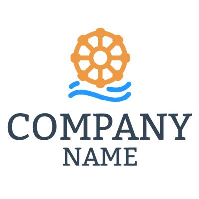 Logotipo Barco Naranja - Agricultura Logotipo