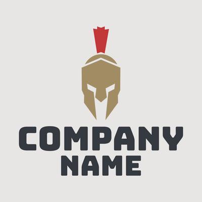 Logotipo casco romano - Seguridad Logotipo