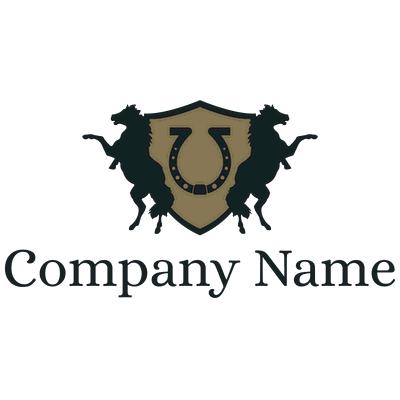 Horse riding and horseshoe sport logo - Security Logo
