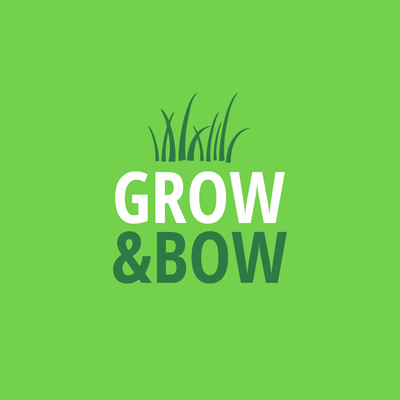 Business logo with turf in a square - Environmental & Green Logo