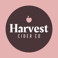 Logotipo de sidra con manzana rosa - Agricultura Logotipo
