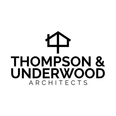 Firmenlogo des Architekten mit Haus-Symbol - Bau & Werkzeuge Logo