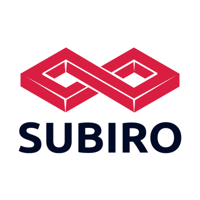 Logo nudo infinito rojo abstracto - Industrial Logotipo