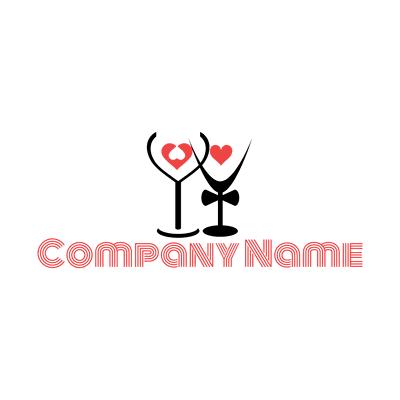wine bar logo - Dating Logo