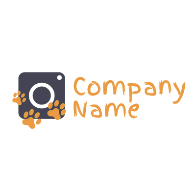 Photo Lens Logo with Animal Pasta - Photography Logo