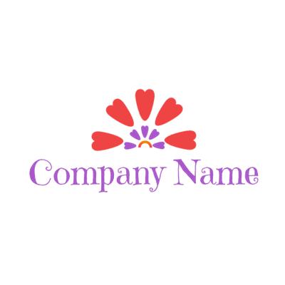 hearts rainbow logo - Dating Logo