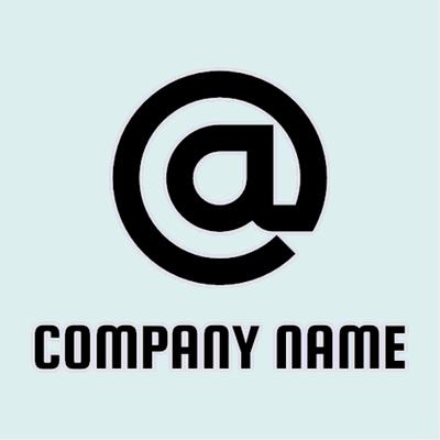 Logotipo con comercial a - Internet Logotipo