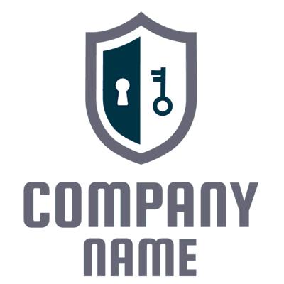 Logotipo con cerradura y llave - Limpieza & Mantenimiento Logotipo