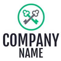 Logotipo candado con llaves - Limpieza & Mantenimiento Logotipo