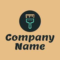 Logotipo de pintor con pincel - Limpieza & Mantenimiento Logotipo