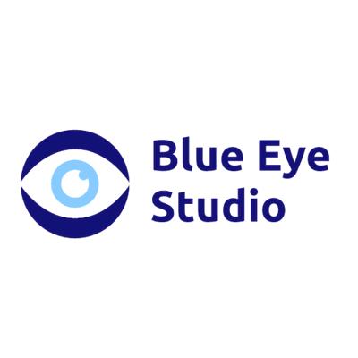 Fotografie-Logo mit blauem Auge - Medizin & Pharmazeutik Logo