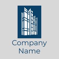 Logo con varios rascacielos - Arquitectura Logotipo