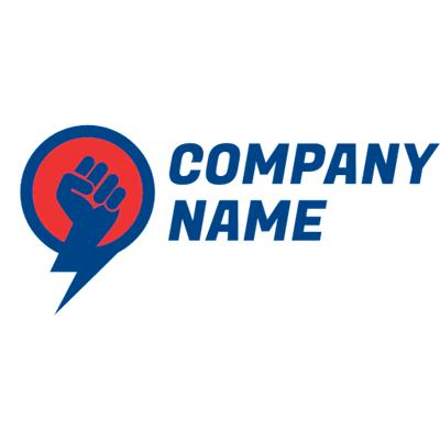 blue fist logo - Technology Logo