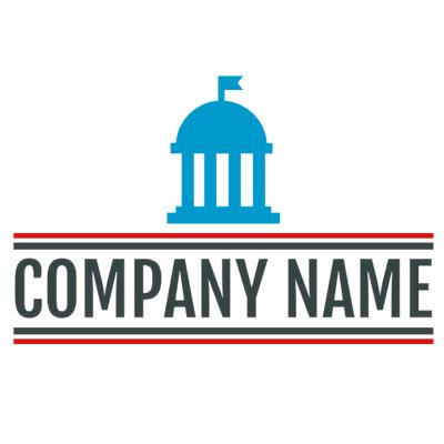 Logotipo con edificio político azul - Arquitectura Logotipo