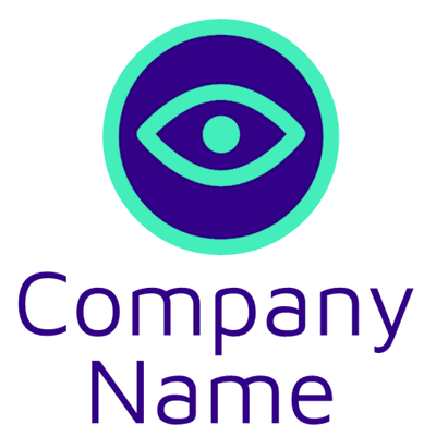 Green and blue eye in a circle logo - Photography Logo
