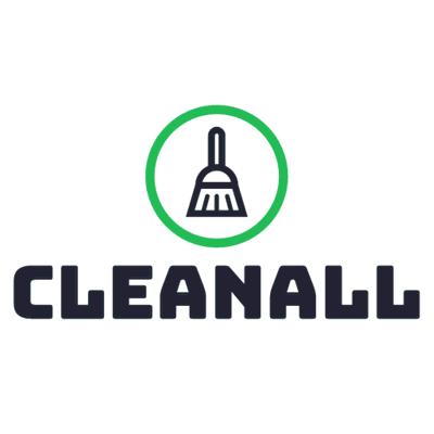 Logotipo de limpieza con escoba - Limpieza & Mantenimiento Logotipo
