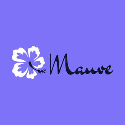 Logotipo empresarial con flor morada - Servicio de bodas Logotipo