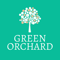 green orchard logo with  apples - Environmental & Green Logo