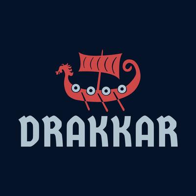 Rotes Drakkar-Logo - Autos & Fahrzeuge Logo