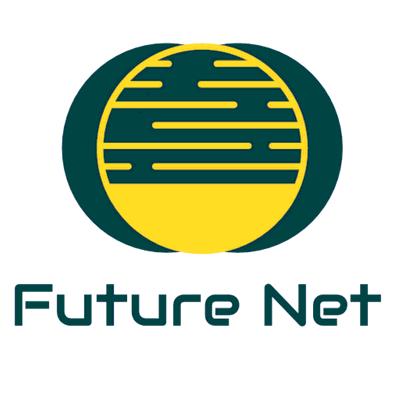 Logotipo planeta internet redondo amarillo verde - Tecnología Logotipo