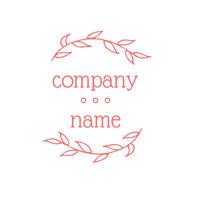 Logotipo de empresa entre dos plantas - Floral Logotipo