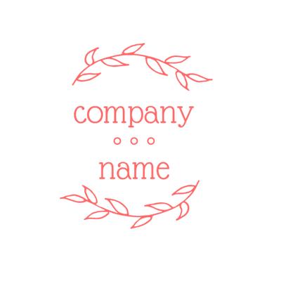 Logotipo de empresa entre dos plantas - Servicio de bodas Logotipo