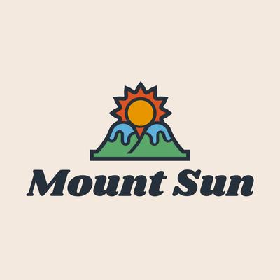 Montañas con logo sol naciente - Viajes & Hoteles Logotipo