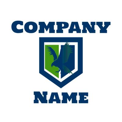 Eagle in a shield logo  - Security Logo