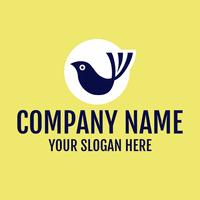 Logotipo de pájaro azul en círculo azul - Animales & Animales de compañía Logotipo