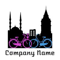 city and bikes logo - Dating Logo