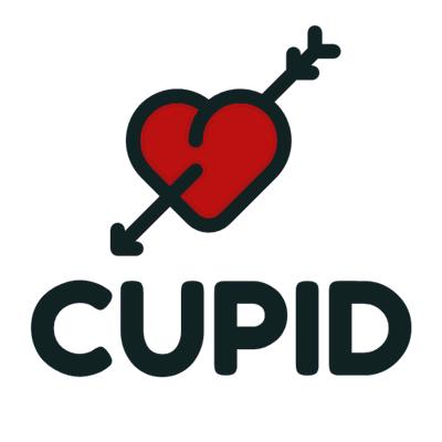 Logotipo de corazón perforado Cupido - Comunidad & Sin fines de lucro Logotipo