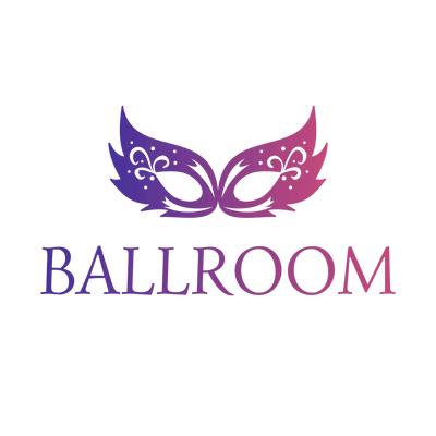 Logotipo de máscara de salón - Servicio de bodas Logotipo