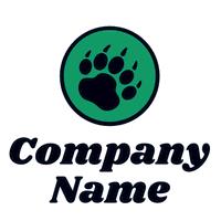 Logotipo de pata de animal, oso verde - Seguridad Logotipo