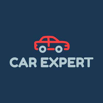 Rotes Auto, Garage, Reparatur-Logo - Autos & Fahrzeuge Logo