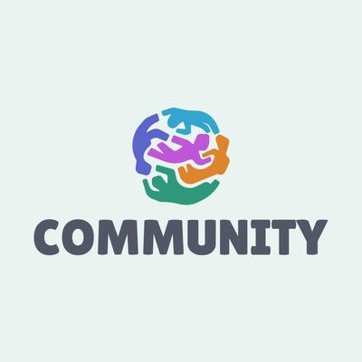 Weltlogo/Runde mit Menschen - Kinder & Kinderbetreuung Logo
