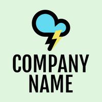 Logo de nube con rayo - Industrial Logotipo