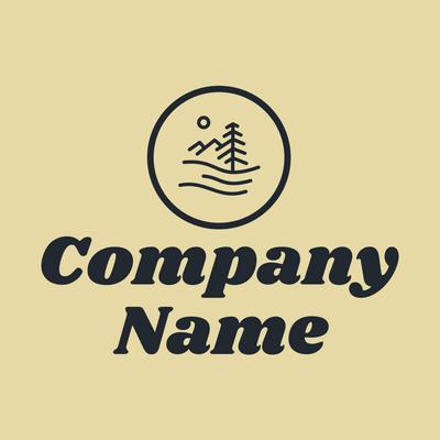 Elementos exteriores con logo círculo azul - Juegos & Entretenimiento Logotipo