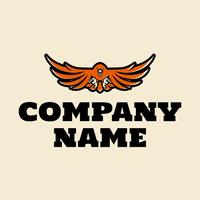 Logo pájaro rojo - Juegos & Entretenimiento Logotipo