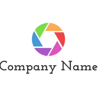 multicolor circle logo - Photography Logo