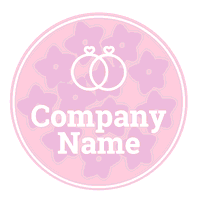 pink shape with rings logo - Dating Logo