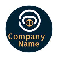 Logo Símbolo Planeta Tierra - Internet Logotipo